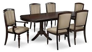 thoreaux 7 piece dining room set dark cherry leon s 7 piece dining room set dark cherry hover to zoom