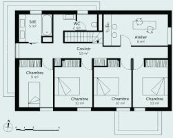 plan de maison en l avec 4 chambres décoration de maison 2018