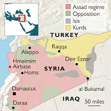 Map Of Syria And Russia Putin Claims Victory Over Isis On Surprise First Visit To Syria