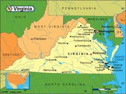 map of virginia and carolina virginia map virginia map