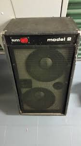 10 Guitar Speaker Cabinet Sunn Model 2 Cabinet 2 X 10 Guitar Speakers In Brooklyn Letgo