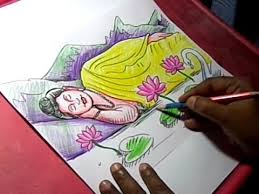 how to draw lord buddha drawing youtube