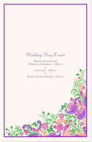 purple wedding programs indian wedding ceremony booklet with colorful paisley design