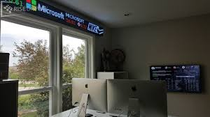 Homeoffice Home Office Ticker Display Rise Display