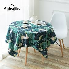 elegant table linens wholesale retro europe jacquard waterproof green round tablecloth 180 cm