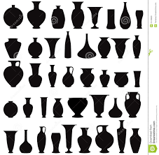 Home Interiors Collection by Vase Silhouette Set Interior Decor Collection Stock Photos