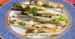 cuisine bretonne couteaux à la plancha recette par turbigo gourmandises