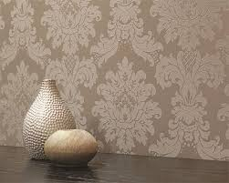 Arthouse Room Divider 261002 Vintage Messina Damask Mocha Wallpaper By Arthouse
