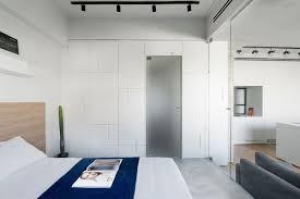 Bedroom Wall Unit Modern Apartment Brings Japanese Beauty To Tel Aviv