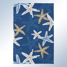 Outdoor Blue Rug Matira Indoor Outdoor Starfish Rugs