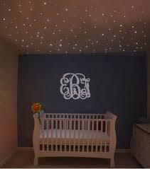 baby nursery bathed in star light