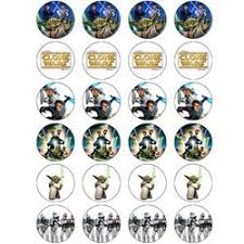 wars edible image wars clone wars 24 edible wafer paper fairy cup cake toppers