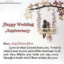 wishes for marriage happy marriage anniversary wishes with name