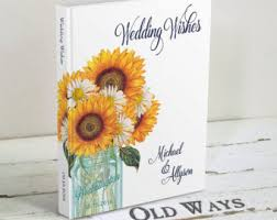 Wedding Wishes Book Travel Wedding Guest Book Personalized Passport Guest Book