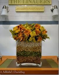 Flower Arrangements In Vases Simple Fall Vase In Vase Flower Arrangement With Layered Beans