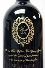 anniversary wine bottles personalized and engraved wine bottle artwork from images inc