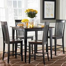 dining room concept black square dining table furniture set