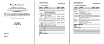 annual review report template employee annual review template
