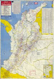 Topographical Map Of South America by Detailed Road Map Of Colombia With Airports Colombia Detailed