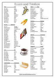 german food vocabulary german teacher resources