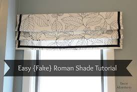 Roman Shades Over Wood Blinds How To Sew A Roman Shade Easy Roman Shade Fake Roman Shade Valance
