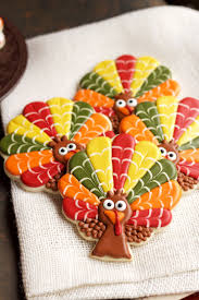 turkey sugar cookies decorated turkey cookies the bearfoot baker