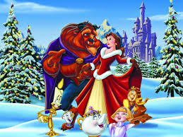 beauty and the beast christmas wallpaper christmas cartoons