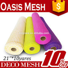 indian decorative items made by poly deco mesh on wedding