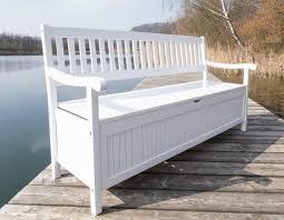 Schlafzimmer Banktruhe Gartenbank Mit Truhe Truhenbank Eukalyptus Weiß 4 Sitzig