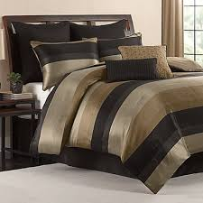 California King Black Comforter King Size Comforter Set Black Gold Tan Satin Finish 8 Piece