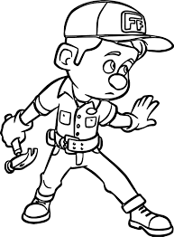 wreck it ralph hammer coloring page wecoloringpage