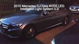 led intelligent light system 2015 mercedes c class w205 ils led intelligent light system review