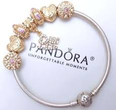 pandora silver bangle charm bracelet images Authentic pandora silver bangle charm bracelet with pink love jpg