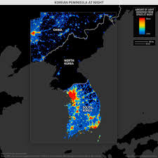 World Map At Night by North Korea At Night Geopolitical Futures