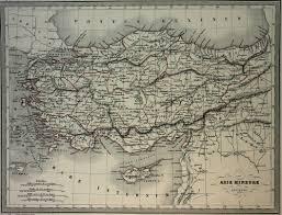 Asia Minor Map malte brun map of ancient asia minor 1861