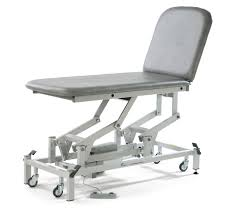 general examination couch electric on casters 2 section