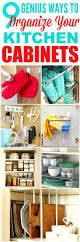 Organizing Your Kitchen Cabinets Best 25 Kitchen Cabinet Organizers Ideas On Pinterest Kitchen