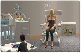 Rocking Horse High Chair Mod The Sims Nursery Add Ons Ii A Rocking Chair And Haffa Crib