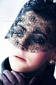 funeral veil black lace veil pret a reporter fashion style by edita