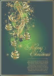 exquisite christmas cards vector free vector 4vector