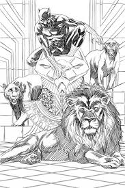 mark brooks process art for black panther 1 cover bleeding cool