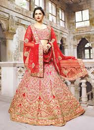 Bridal Wear Red And White Indian Bridal Wear Dress Images