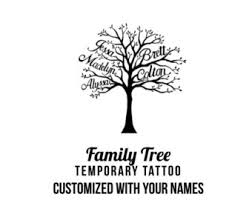 custom family tree with names temporary personalized with