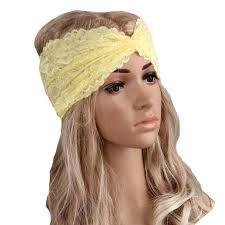 lace headbands womens hairband headwear twist sport lace headband turban