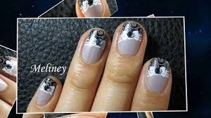 how to apply mirror powder nails chrome effect nail art with vinyl
