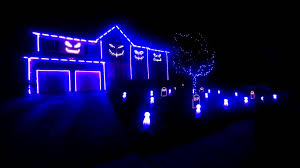 halloween light show 2013 blurred lines youtube