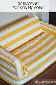 Sofas For Kids by Diy Striped Slipcover For Kids Flip Sofa Carissa Miss