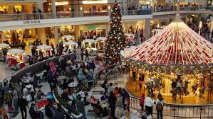 black friday shopping strengthens in the afternoon after morning