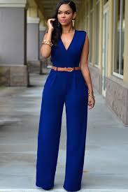 royal blue jumpsuit royal blue v neck belt embellished jumpsuit 2441 2 jpg