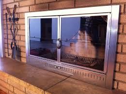 Fireplace Glass Doors Home Depot by Interior Fireplace Doors With Blowers Within Best Fireplace